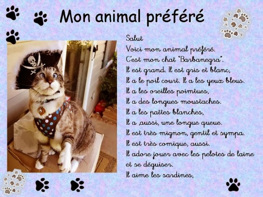 Description d'animaux 1